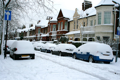 Chiswick snow covered streets in February 2009