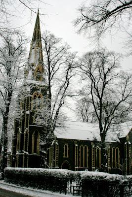 Turnham Green church snow covered