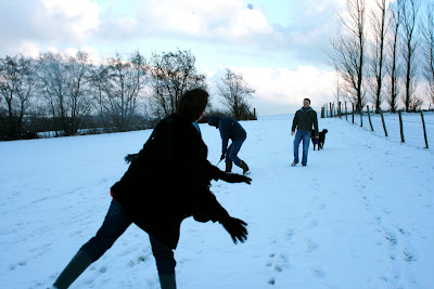 Snowball fun in Crowborough