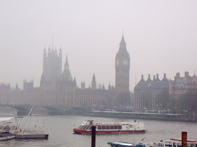 Foggy Houses of Parliament