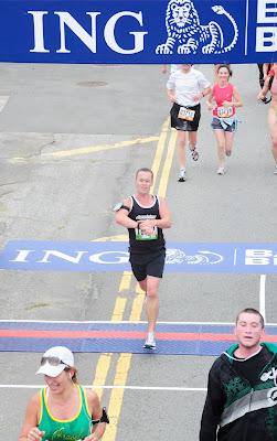 Jason crossing Bay to Breakers 2010 finish line