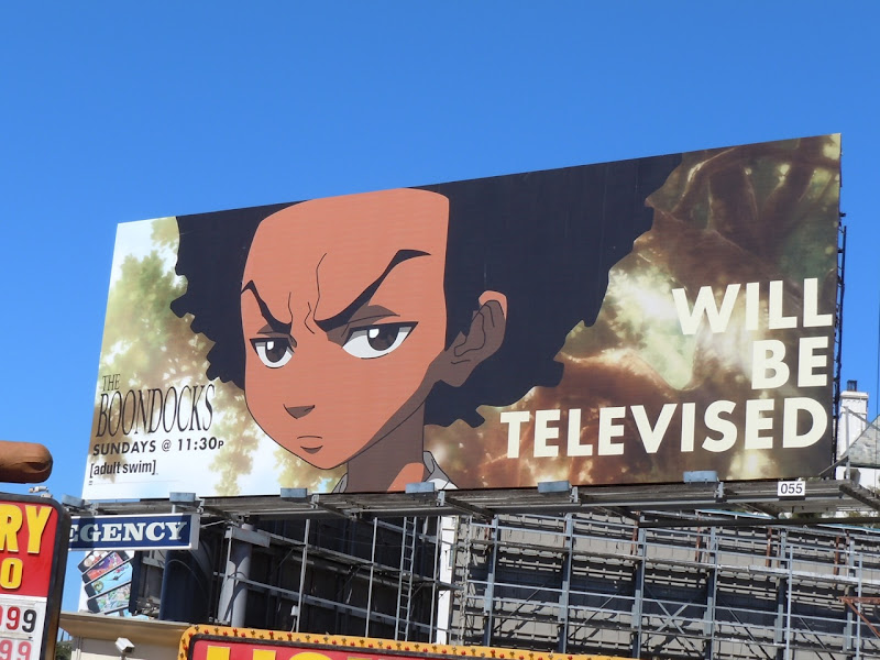 The Boondocks Adult Swim TV billboard