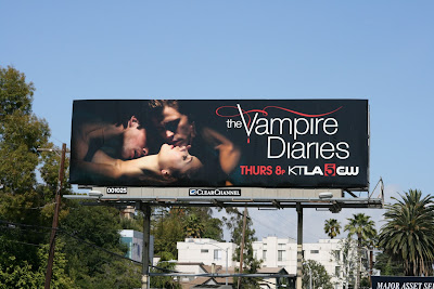 Vampire Diaries season 2 TV billboard