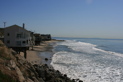 beach houses along Malibu coast