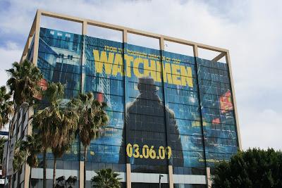 Watchmen movie building billboard