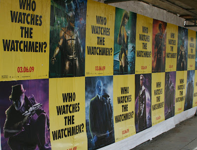 Watchmen film posters around Los Angeles