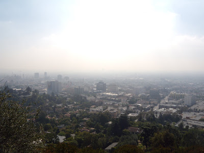 Downtown Los Angeles hidden in the mists