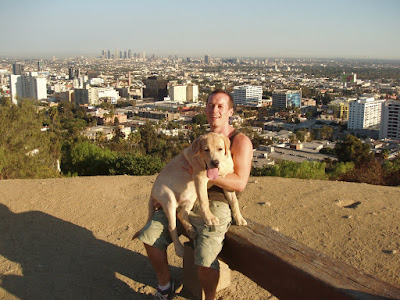 Jason and Cooper overlooking LA in September 2008