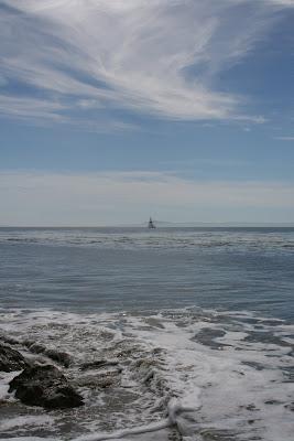 Sailboat near Arroyo Burro Beach in Santa Barbara