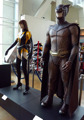 Watchmen movie costumes on display at ArcLight Hollywood