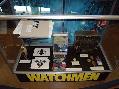 Watchmen film props on display
