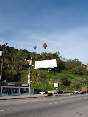 Blank billboard site in Studio City