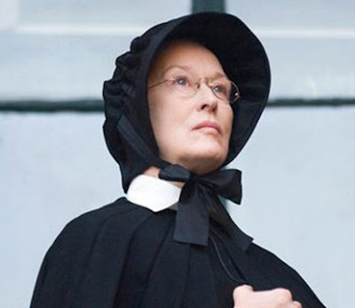 Meryl Streep as a nun in the movie Doubt