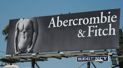 Hot Abercrombie & Fitch male model billboard