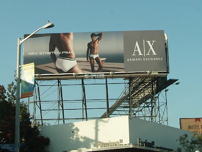 Armani Exchange Male underwear billboard on Santa Monica Blvd