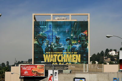 Large Watchmen movie billboard