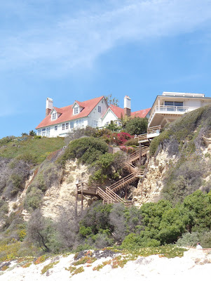 Beach houses at Zuma Beach in Malibu