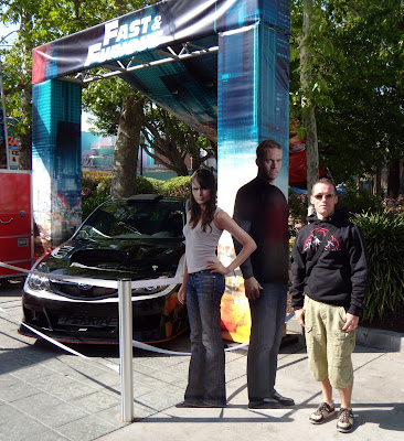 Jason posing with Fast & Furious movie stars