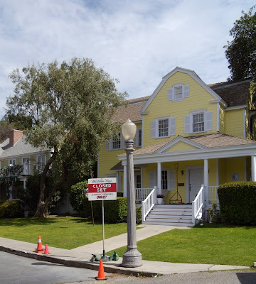 Desperate Housewives Wisteria Lane closed set filming at Universal Studios