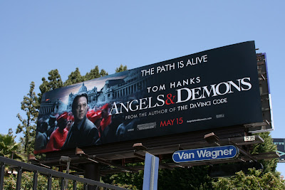 Tom Hanks Angels & Demons movie billboard