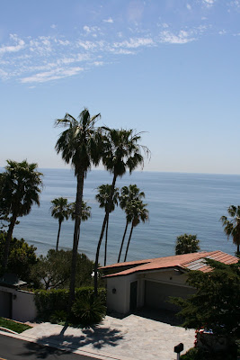 Malibu beach house view