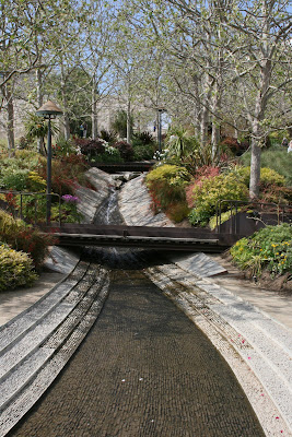 Getty Center cascading stream
