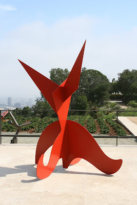 Getty Center Spiny Top, Curly Bottom sculpture