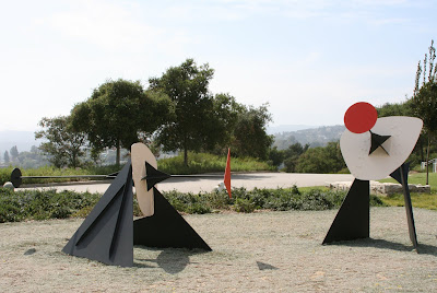 The Jousters sculptures at The Getty Center