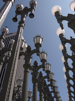 Arresting Urban Light sculpture by Chris Burden at LACMA