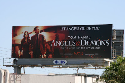 Angels and Demons movie billboard Santa Monica Blvd