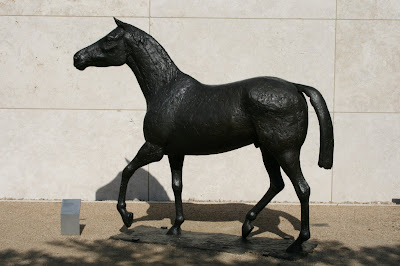 Elisabeth Frink bronze Horse sculpture at The Getty