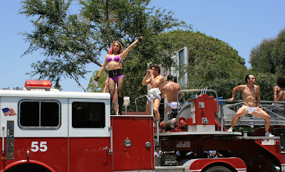 West Hollywood Gay Pride Parade float 2008