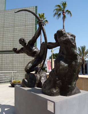 Herakles - The Archer bronze sculpture 1909 by Bourdelle at LACMA