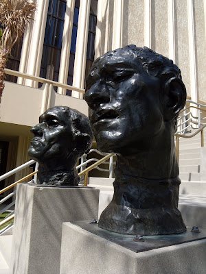Rodin bronze head sculptures at LACMA