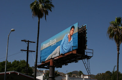 Perry Ellis male fashion model billboard