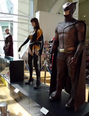 Original Watchmen film costumes on display