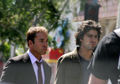 Entourage TV stars Jeremy Piven and Adrian Grenier