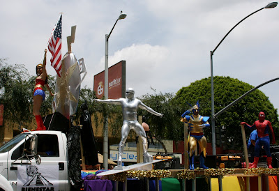 West Hollywood Gay Pride Parade 2009 Superhero float