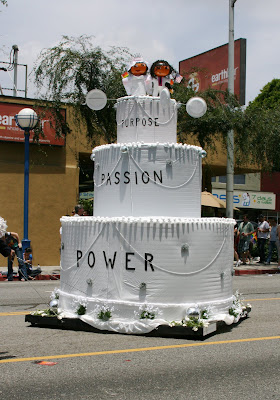 Gay Marriage cake at West Hollywood Gay Pride Parade 2009