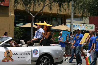 Actress Kate del Castillo at WEHO gay Pride Parade 2009