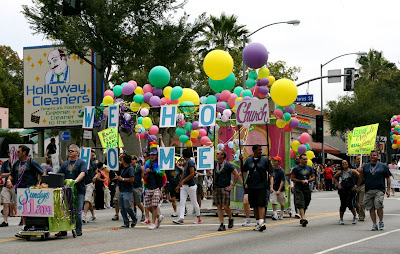 Church support at West Hollywood Pride Parade 2009