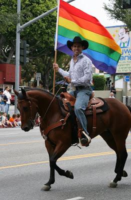 West Hollywood Gay Pride Parade cowboy 2009