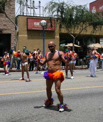 Tropical dancer West Hollywood Gay Pride Parade 2009