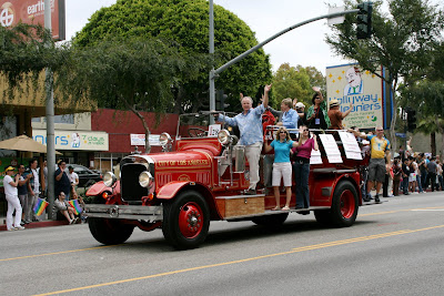 West Hollywood Gay Pride Parade 2009 classic firetruck