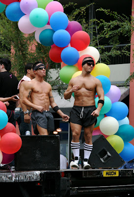 Party guys West Hollywood Gay Pride Parade 2009
