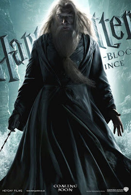 Dumbledore in Harry Potter and the Half-Blood Prince movie poster