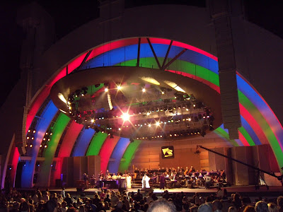 Aretha Franklin Hollywood Bowl colourful lightshow