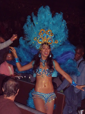 Aretha Franklin Hollywood Bowl Mardis Gras Carnival dancer