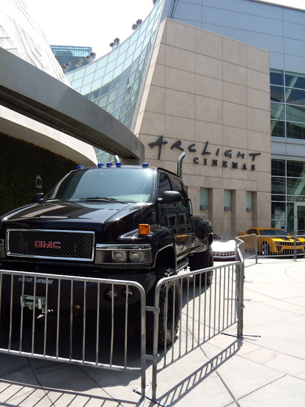 Transformers 2 Autobots cars at ArcLight Hollywood