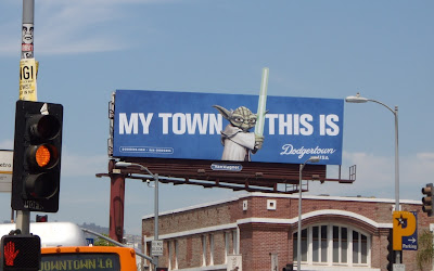 Yoda Dodgertown billboard